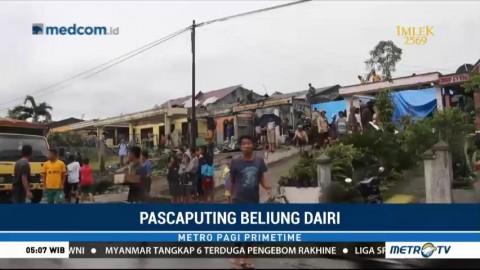 Warga Dairi Mulai Perbaiki Rumah yang Rusak Akibat Puting Beliung