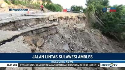 Jalan Penghubung Antar Provinsi di Majene Ambles
