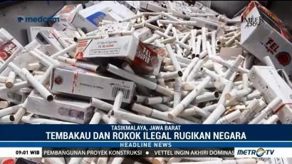 Bea Cukai Tasikmalaya Musnahkan 42 Ribu Batang Rokok Ilegal
