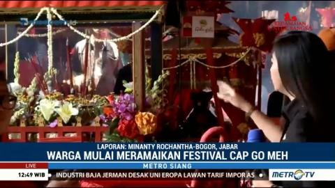 Kemeriahan Perayaan Cap Go Meh di Vihara Dhanagun Bogor