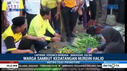 Nurdin Halid Blusukan ke Pasar Bajoe