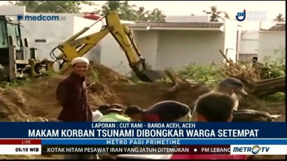 Kuburan Massal Korban Tsunami Aceh Dibongkar