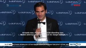 Roger Federer Sabet Dua Penghargaan di Laureus Award 2018