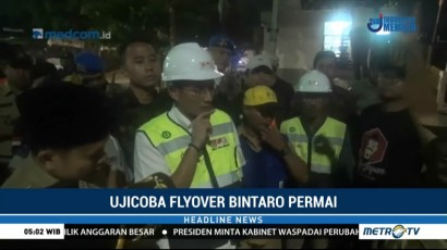 Sandiaga Uno Tinjau Pembangunan Flyover Bintaro Permai