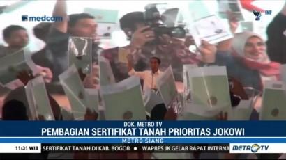 Jokowi Bagi-bagi 15.000 Sertifikat Tanah di Bogor