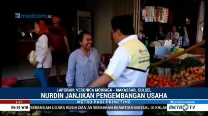 Blusukan ke Pasar, Nurdin Halid Janji akan Berikan Modal untuk Pedagang