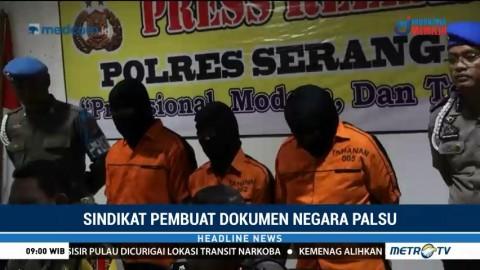 Polisi Tangkap Sindikat Pemalsu Dokumen Negara di Serang