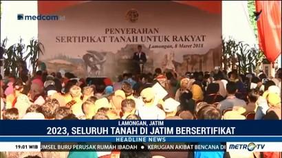 Jokowi Bagikan 5.750 Sertifikat Tanah di Alun-alun Lamongan