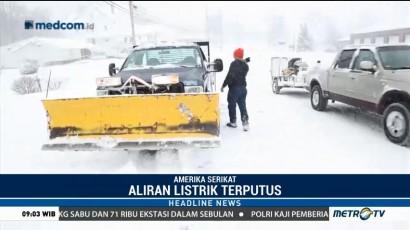 Badai Salju Putus Suplai Listrik di AS