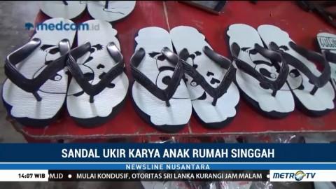 Sandal Ukir Karya Anak Rumah Singgah Langkat