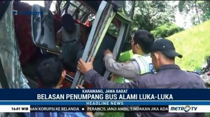 Kecelakaan Bus dan Truk, Lalin di Tol Cikampek Tersendat