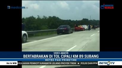 Rombongan Lamborghini Kecelakaan di Tol Cipali