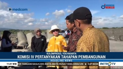 Komisi IV DPR Sidak Pembangunan Pelabuhan Tanjung Adikarto