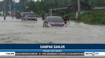 Banjir, Jalan Penghubung Dua Kabupaten di Bangka Belitung Terputus