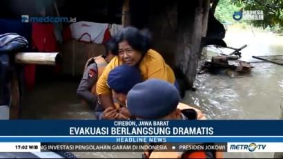 Evakuasi Korban Banjir Cirebon Berlangsung Dramatis