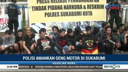 Polres Sukabumi Kota Tangkap Anggota Geng Motor dan Pelaku Kejahatan Jalanan