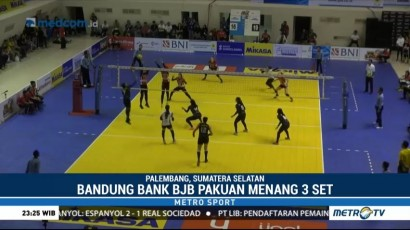 Tim Putri Bandung Bank BJB Pakuan Taklukkan Jakarta Pertamina Energi