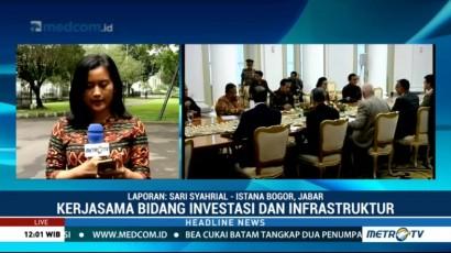 Jokowi Bertemu Delegasi AIIB di Istana Bogor