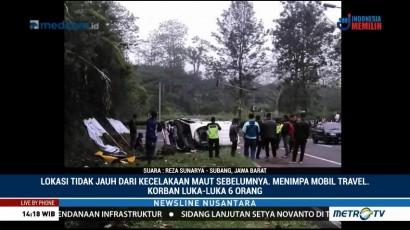 Mobil Travel Kecelakaan di Tanjakan Emen
