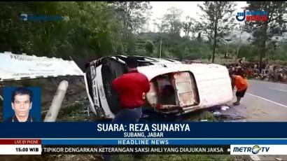 13 Orang Terluka dalam Kecelakaan di Tanjakan Emen