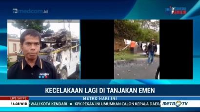 Kronologis Kecelakaan Mobil Travel di Tanjakan Emen
