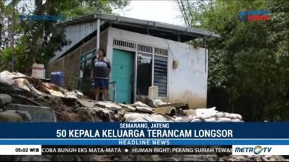 Warga Semarang Resah dengan Pergerakan Tanah yang Meluas