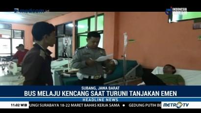 10 Korban Kecelakaan Tanjakan Emen Masih Dirawat di RSUD Subang