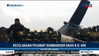Pesawat Jatuh di Nepal Diduga Akibat Salah Arahan <i>Traffic Controller</i>