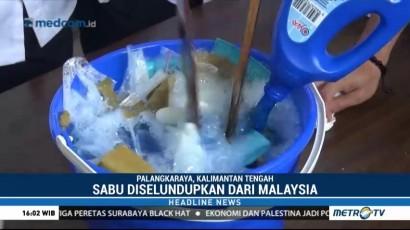 BNN Kalteng Musnahkan 1 Kg Sabu Asal Malaysia
