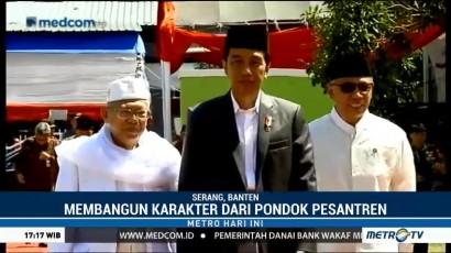Jokowi Kunjungi Ponpes An Nawawi Tanara di Serang
