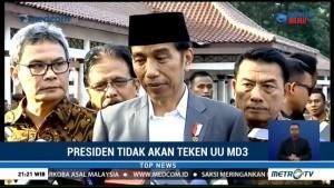 Jokowi Tak akan Teken UU MD3