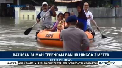 Warga Gowa Terdampak Banjir Terpaksa Dievakuasi