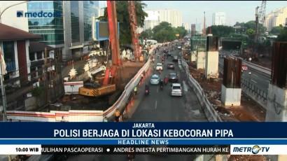 Pipa Gas PGN Kembali Bocor, Pengerjaan Proyek LRT Terhenti