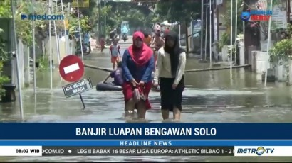 Banjir Luapan Bengawan Solo Mulai Surut