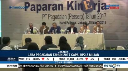 Laba Bersih Pegadaian Tahun 2017 Tumbuh 13,7%