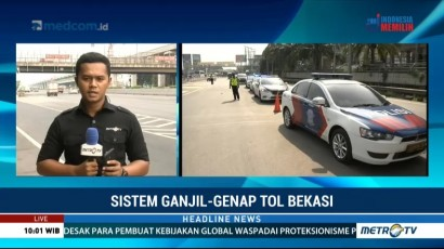 Kapolri Tinjau Penerapan Ganjil Genap di GT Bekasi Barat & Timur
