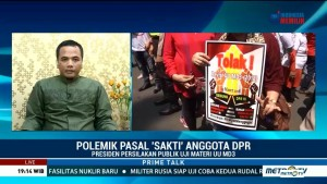 Tidak Teken UU MD3 adalah Ekspresi Ketidaksukaan Jokowi?