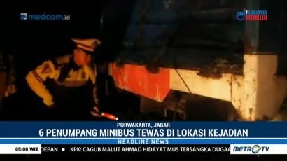 Kecelakaan Minibus dan Truk di Tol Cipali Tewaskan Enam Orang