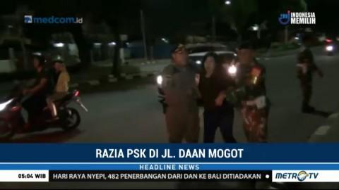 Satpol PP Razia PSK di Jalan Daan Mogot