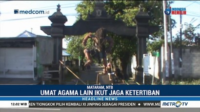 Umat Muslim di Mataram Ikut Menjaga Ketertiban Perayaan Nyepi