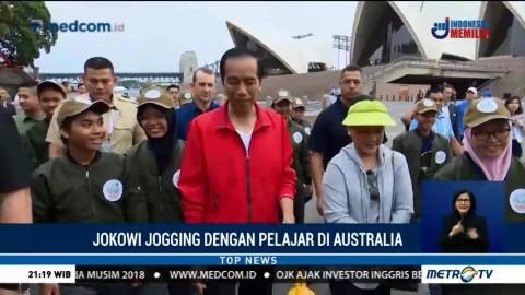 Jokowi Jogging Bareng Pelajar Indonesia di Australia