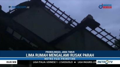 Belasan Rumah di Probolinggo Rusak Diterjang Puting Beliung