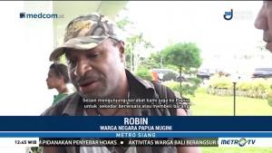 Pos Lintas Batas Indonesia-Papua Nugini Ramai Dikunjungi Wisatawan