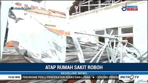 Atap RSAL Dr Ramelan yang Roboh Baru Direnovasi Tiga Bulan Lalu
