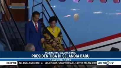 Jokowi Tiba di Selandia Baru