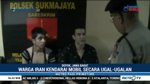Ugal-ugalan, Mobil WN Iran Tabrak Sejumlah Pengendara di Depok