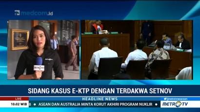 Kubu Setnov Hadirkan 4 Saksi di Sidang KTP-el
