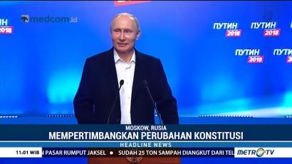 Putin Tunggu Hasil Resmi Pilpres Rusia