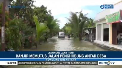 Jalan Penghubung Antar Desa di Lamongan Sudah 3 Minggu Terendam Banjir