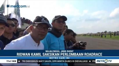 Ridwan Kamil Saksikan <i>Road Race</i> di Majalengka